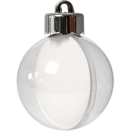 Boule en plastique Ø 12 cm divisible Transparent Acrylique Boule Sphère en Plastique